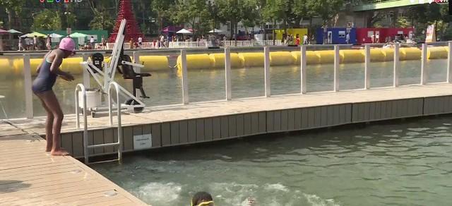 Kênh Ourcq - Bãi tắm mùa hè miễn phí ở Paris, Pháp - Ảnh 2.