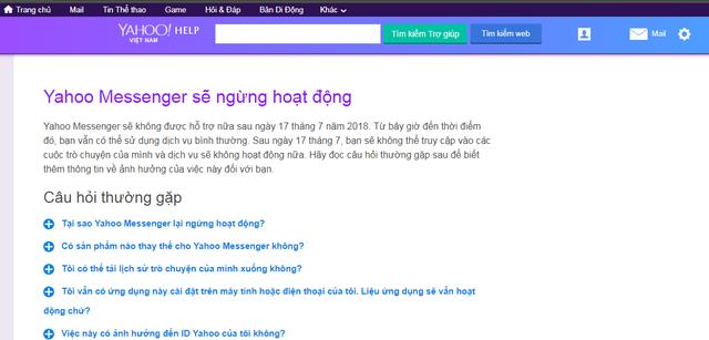 Sau ngày hôm nay 17/7, Yahoo Messenger chính thức chết - Ảnh 1.