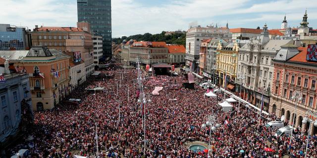 ĐT Croatia trở về sau chiến tích lịch sử: Còn bữa tiệc nào hoành tráng hơn thế? - Ảnh 1.
