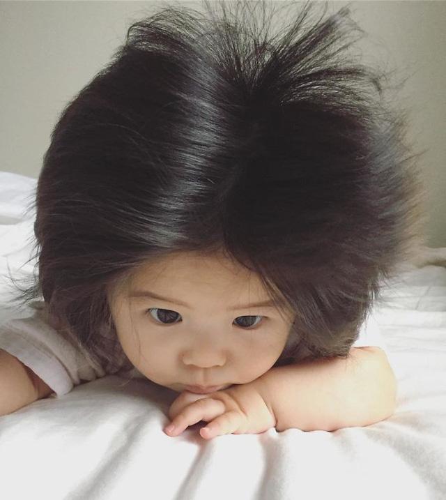 Bé gái 6 tháng tuổi gây sốt vì mái tóc dựng ngược có một không hai - Ảnh 18.