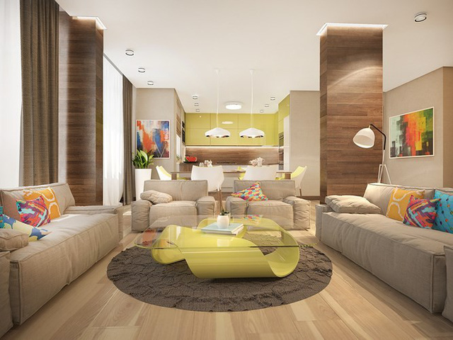 Ngôi nhà rực rỡ sắc màu của người yêu phong cách nhiệt đới - Ảnh 2.