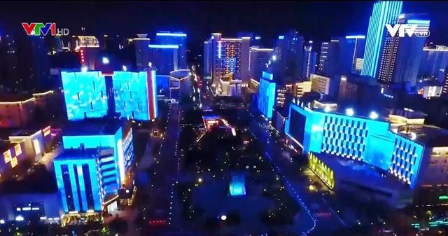 Lễ hội ánh sáng đầy màu sắc ở thành phố Tây An, Trung Quốc - Ảnh 1.