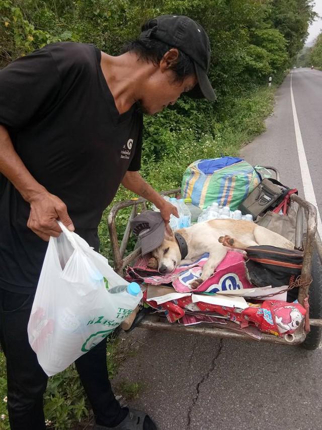 Thái Lan: Đi bộ 1.500km đưa tro cốt bạn gái lên núi - Ảnh 4.