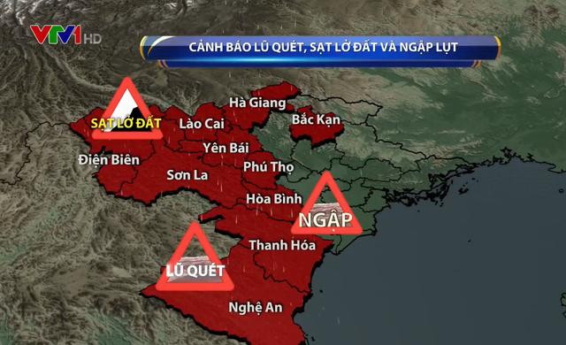 Lũ nhiều sông ở Bắc Bộ, Bắc Trung Bộ dâng cao, lên mức cảnh báo khẩn cấp - Ảnh 1.