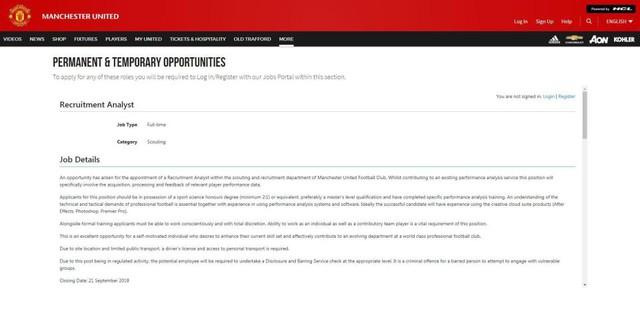 Man Utd tuyển dụng online, ai cũng có thể đăng ký - Ảnh 1.