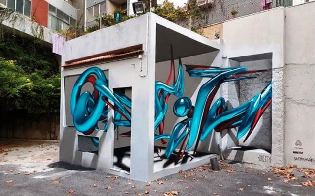 Những tác phẩm graffiti sống động như thật - Ảnh 1.
