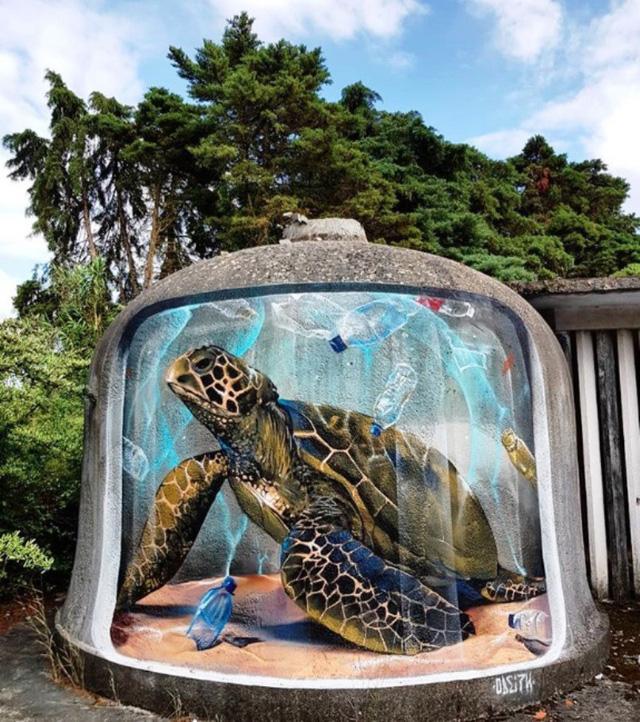 Những tác phẩm graffiti sống động như thật - Ảnh 4.