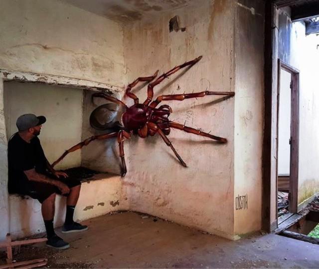 Những tác phẩm graffiti sống động như thật - Ảnh 10.
