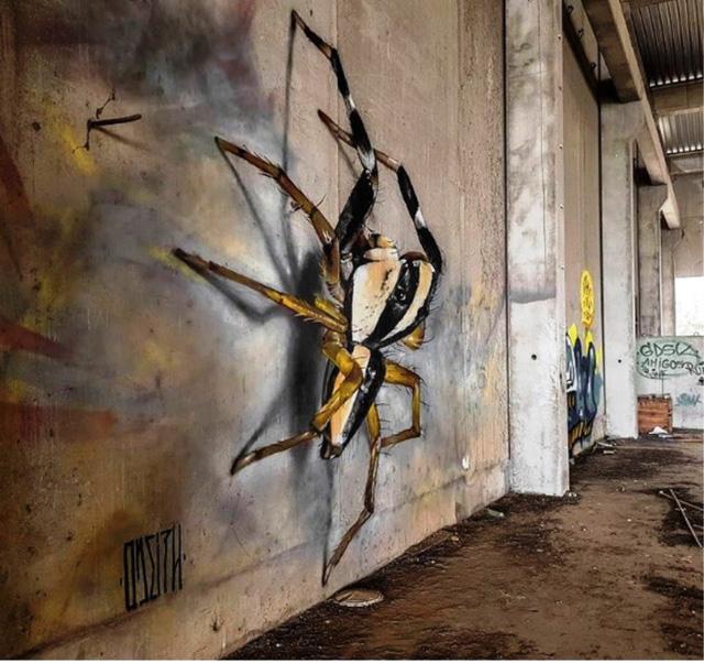 Những tác phẩm graffiti sống động như thật - Ảnh 11.