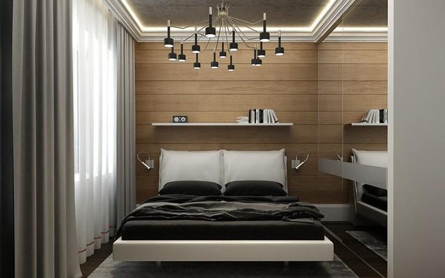 Căn hộ phong cách với màu đen, trắng và nâu gỗ - Ảnh 6.