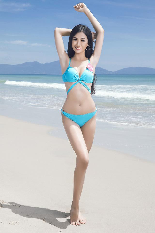 43 thí sinh Hoa hậu Việt Nam khoe bộ ảnh bikini trước đêm Chung kết - Ảnh 1.
