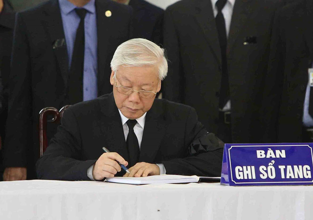 Hình ảnh Lãnh đạo Đảng, Nhà nước viếng Chủ tịch nước Trần Đại Quang - Ảnh 6.
