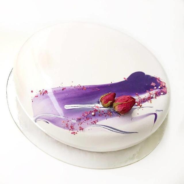 Những chiếc bánh kem tráng gương đẹp mê mẩn - Ảnh 23.