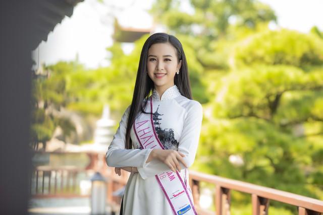 Top 3 Hoa hậu Việt Nam 2018 đọ sắc với áo dài họa tiết Nhật Bản - Ảnh 5.