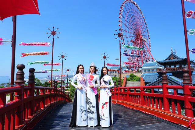 Top 3 Hoa hậu Việt Nam 2018 đọ sắc với áo dài họa tiết Nhật Bản - Ảnh 9.
