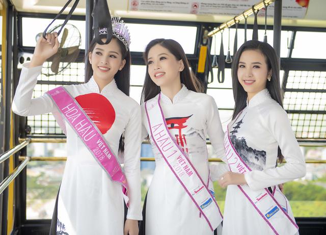 Top 3 Hoa hậu Việt Nam 2018 đọ sắc với áo dài họa tiết Nhật Bản - Ảnh 8.