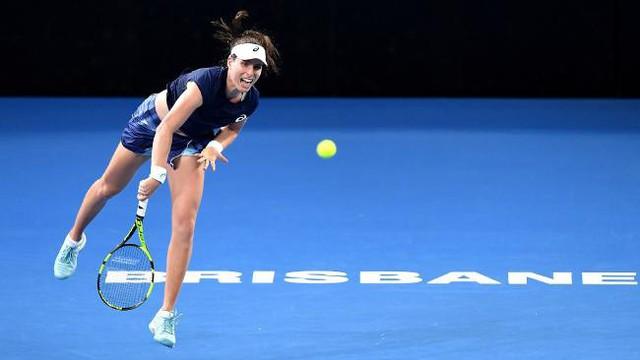 Johanna Konta giành quyền vào tứ kết Brisbane International - Ảnh 1.