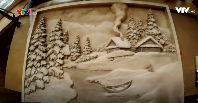 Mùa Đông qua nét chạm khắc của nghệ nhân Nga