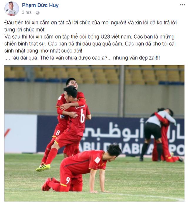 Công Phượng, Đức Huy ăn mừng sinh nhật đáng nhớ sau chiến tích lịch sử của U23 Việt Nam - Ảnh 2.