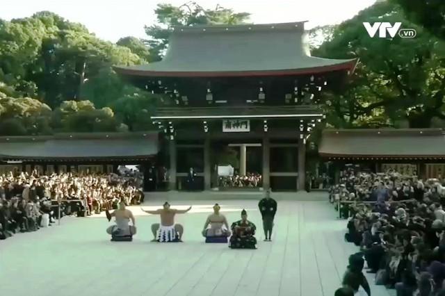 Nghi thức đầu năm của các võ sĩ Sumo - Ảnh 1.