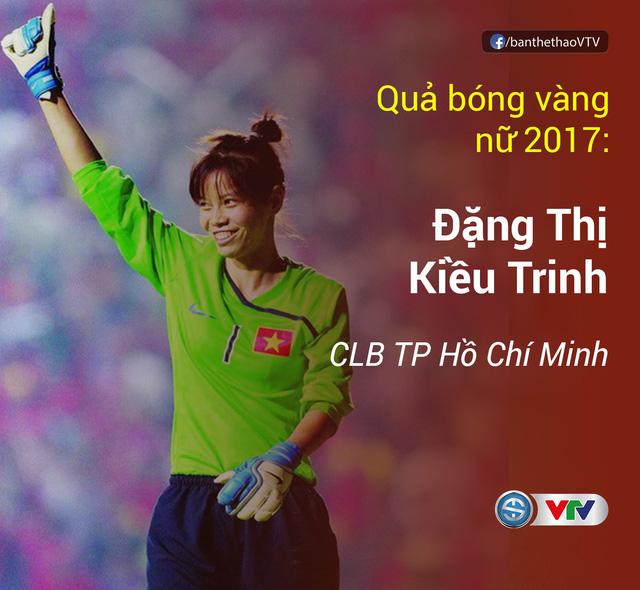 Thanh Trung, Kiều Trinh giành Quả bóng vàng Việt Nam 2017 - Ảnh 1.