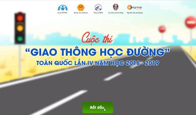 Hơn 1 triệu học sinh THCS, THPT tham gia cuộc thi Giao thông học đường - Ảnh 1.