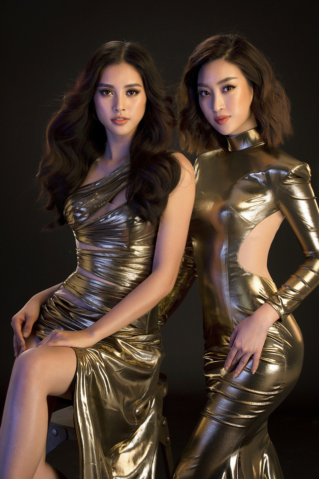 Hoa hậu Mỹ Linh, Tiểu Vy đọ dáng khoe vẻ đẹp một 9 một 10 - Ảnh 1.