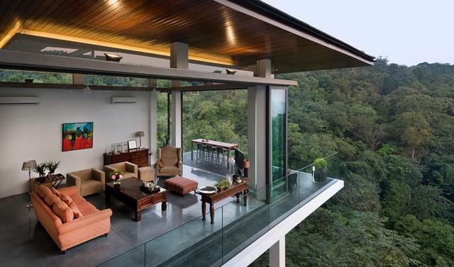 Biệt thự tuyệt đẹp ẩn mình trong rừng nhiệt đới - Ảnh 1.