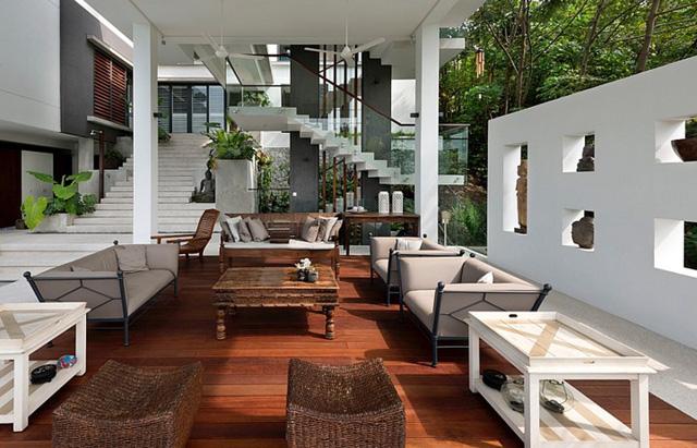 Biệt thự tuyệt đẹp ẩn mình trong rừng nhiệt đới - Ảnh 4.