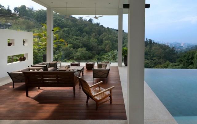 Biệt thự tuyệt đẹp ẩn mình trong rừng nhiệt đới - Ảnh 6.