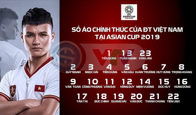 Asian Cup 2019: Thanh Bình bị loại, ĐT Việt Nam chốt danh sách 23 cầu thủ chính thức - Ảnh 1.