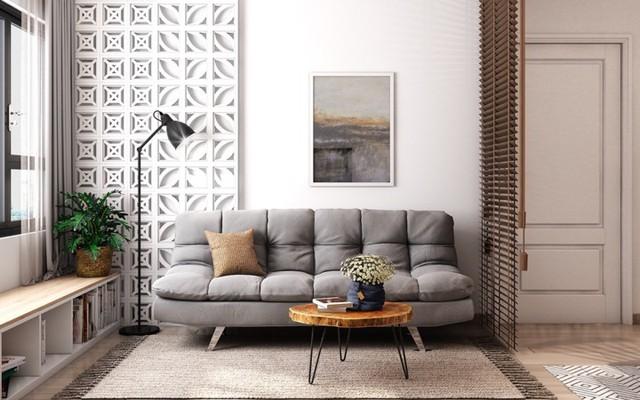 Căn hộ có nội thất làm bằng gỗ tự nhiên - Ảnh 1.