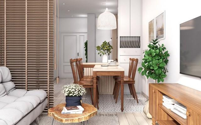 Căn hộ có nội thất làm bằng gỗ tự nhiên - Ảnh 3.