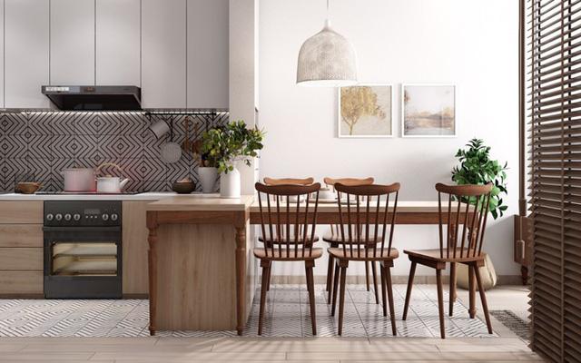 Căn hộ có nội thất làm bằng gỗ tự nhiên - Ảnh 4.