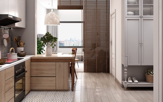 Căn hộ có nội thất làm bằng gỗ tự nhiên - Ảnh 5.