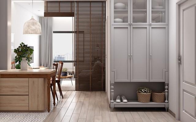 Căn hộ có nội thất làm bằng gỗ tự nhiên - Ảnh 7.
