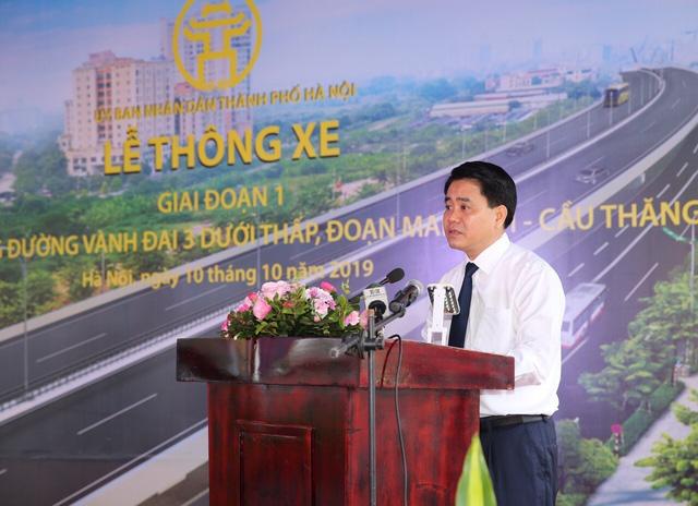 Hà Nội thông xe đường vành đai 3 đoạn Mai Dịch - cầu Thăng Long - Ảnh 3.
