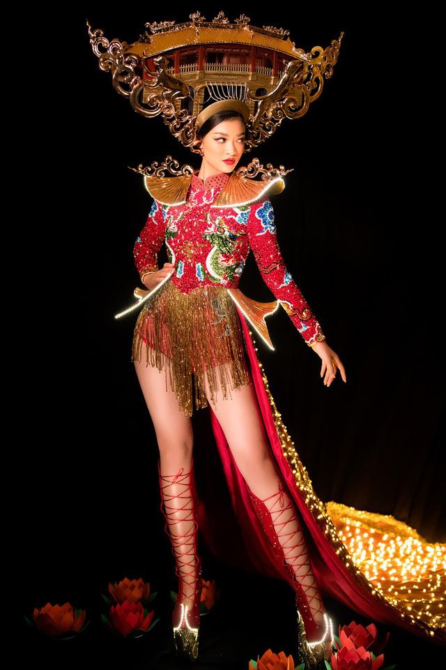 Lộ diện quốc phục của Á hậu Kiều Loan tại Miss Grand International 2019 - Ảnh 1.