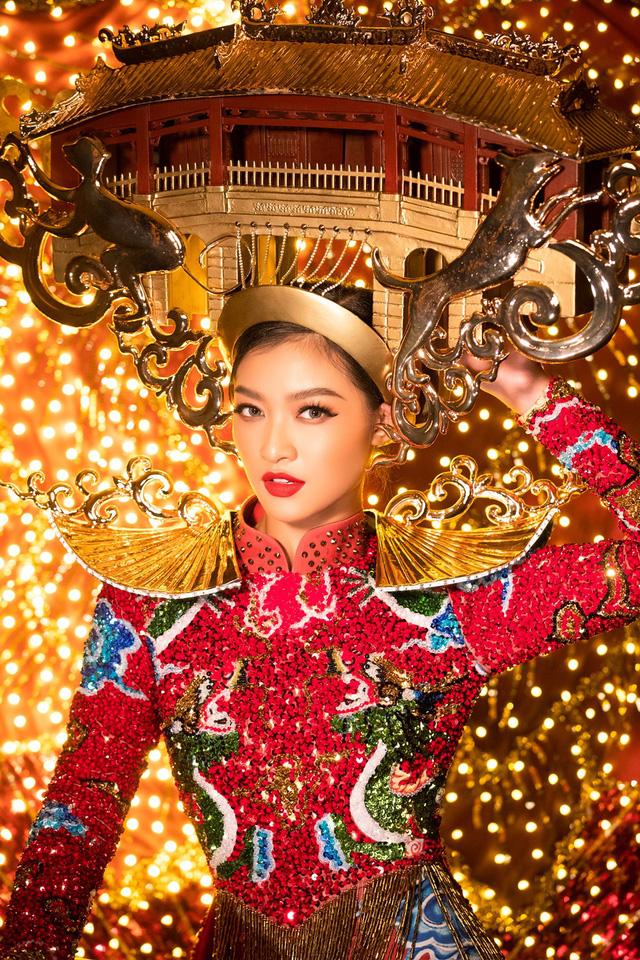 Lộ diện quốc phục của Á hậu Kiều Loan tại Miss Grand International 2019 - Ảnh 2.