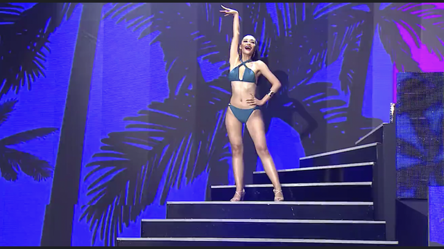 Kiều Loan diện jumpsuit, bikini trình diễn trong đêm Bán kết Miss Grand International 2019 - Ảnh 6.