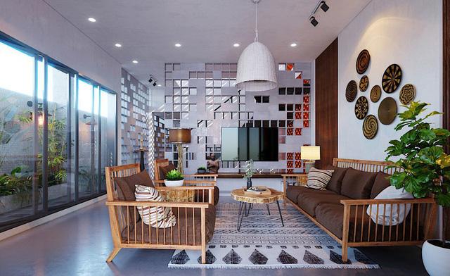 Ngôi nhà gây ấn tượng nhờ sử dụng nội thất gỗ mộc mạc - Ảnh 1.