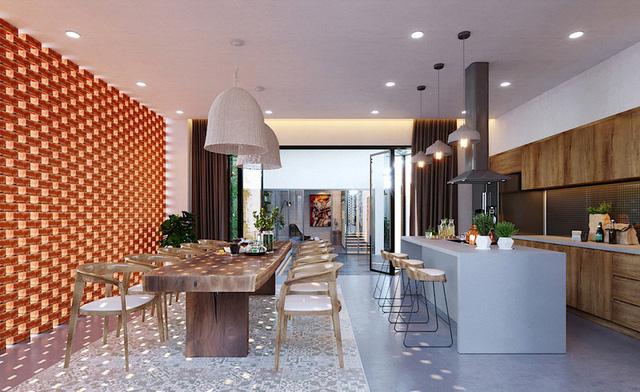 Ngôi nhà gây ấn tượng nhờ sử dụng nội thất gỗ mộc mạc - Ảnh 5.