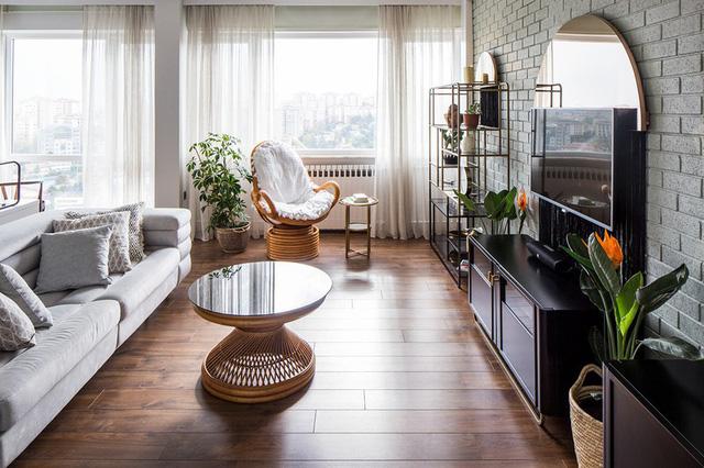 Căn hộ tầng cao sở hữu vẻ đẹp yên bình, giản dị - Ảnh 2.