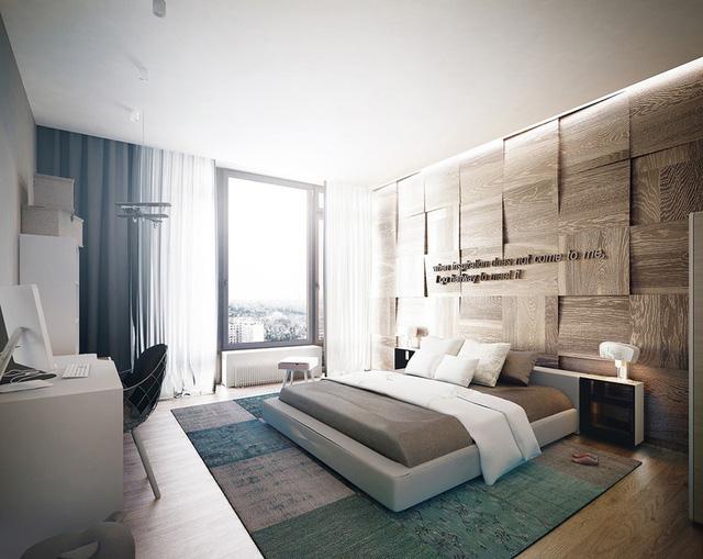 Trang trí phòng ngủ bằng tường gỗ ấn tượng - Ảnh 11.