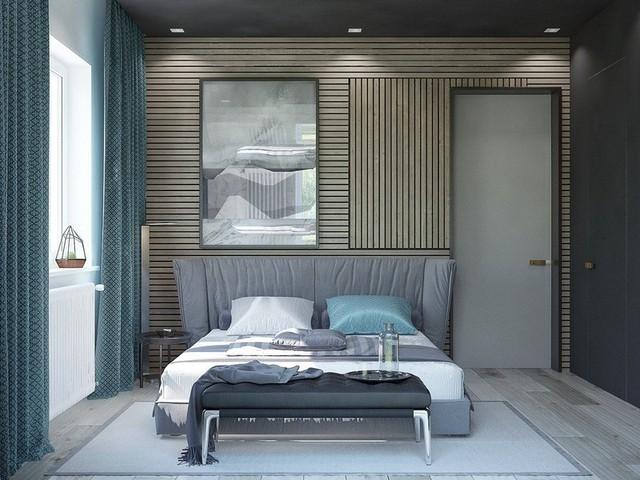 Trang trí phòng ngủ bằng tường gỗ ấn tượng - Ảnh 7.