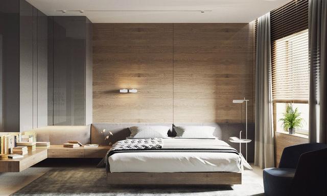 Trang trí phòng ngủ bằng tường gỗ ấn tượng - Ảnh 9.