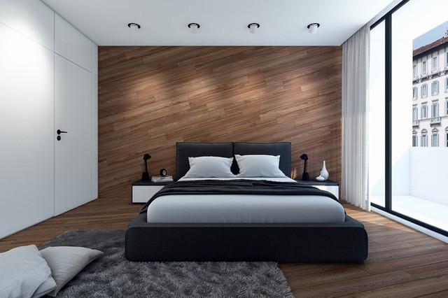 Trang trí phòng ngủ bằng tường gỗ ấn tượng - Ảnh 10.