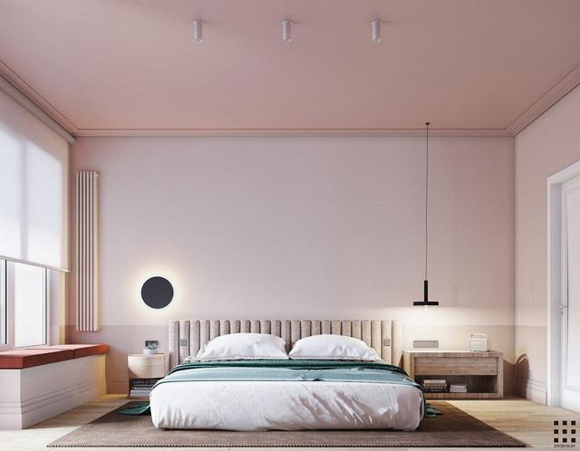 Căn hộ trang trí bằng màu xanh và hồng pastel - Ảnh 5.