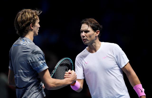 ATP Finals 2019: Zverev có khởi đầu thuận lợi bằng chiến thắng trước Nadal - Ảnh 2.