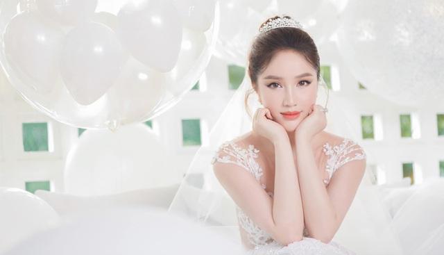 Bảo Thy khoe vẻ đẹp ngọt ngào trong bộ ảnh cưới - Ảnh 1.